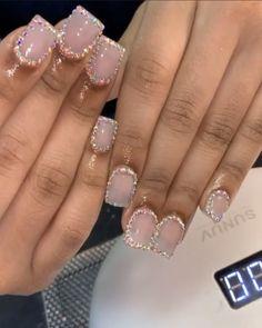 Classy Acrylic Nails, Bling Acrylic Nails, Cute Acrylic Nail Designs, Best Acrylic Nails, Long Stiletto Nails, Toe Nails, Arylic Nails, Short Square Acrylic Nails, 17th Birthday