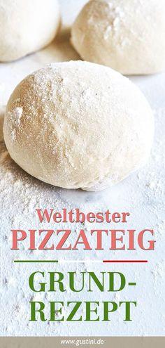 Pizzateig Rezept – Original wie in Neapel Soft, loose, fluffy pizza dough! An Italian dream - and so Pizza Recipes, Vegetarian Recipes, Dinner Recipes, Healthy Recipes, Sauce Pizza, Evening Meals, Dough Recipe, Pizza Dough, Pizza Pizza
