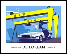"125 Likes, 2 Comments - TMELESS DeLorean N.Ireland (@timelessdeloreanhire05447) on Instagram: ""JamesKellyArtist, DeLorean sports car (Back to the Future) - #vintagestyle railway travel…"""