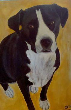 Hunde Portrait für meine Tochter   Acryl gemälde