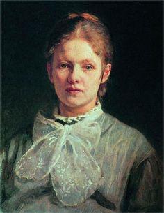 Ilya Repin (Russian, 1844-1930) - Portrait of S.A. Repina