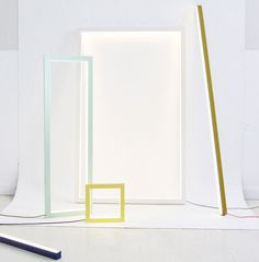 """I think I just found a new sculpture to add to the top of my """"art I would kill to have"""" list. Created by Canadian designer Miya Kondo, 'Composition Light' is a light sculpture comprised of five different shapes of light with fiv ..."""