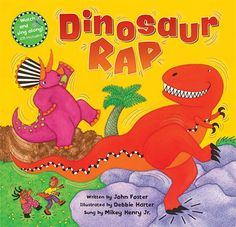 Dinosaur Rap - Get movin' and groovin' with 7 dancing dinosaurs! With funky lyrics and a catchy rap performance, this rhythmic romp encourages safe and exciting creative movements that are sure to inspire pretend play. Colorful artwork by bestselling Animal Boogie illustrator Debbie Harter and 6 pages of dinosaur facts make this an inclusive, educational and fun addition to your singalong library.