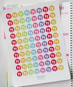 80 Repas icône autocollants pour Erin Condren par PlannerPenny