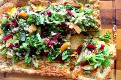 This Orange Galette with Beet Gorgonzola Salad recipe is utterly delicious. A fresh salad with our Pickled Beets tops a crispy galette. Orange Recipes, Fall Recipes, Gorgonzola Salad Recipe, Great Salad Recipes, Pickled Beets, Vegetable Pizza, Appetizers, Tasty, Meals