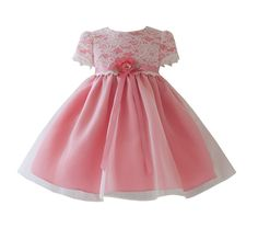 KID Collection Baby-Girls Vintage Charm Lace Party Pageant Dress