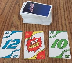 RAGE Card Game VINTAGE Retro 80s Theme Party UNO Family 1983 Movie A #InternationalGames
