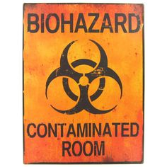 Santas Tools and Toys Workshop: Home Improvement: Biohazard Contaminated Room Tin Sign MAN CAVE Great Fathers Day Gift Tin Signs, Metal Signs, Wall Signs, Art Craft Store, Craft Stores, Great Father's Day Gifts, Best Gifts, Truck Room, Bathroom Kids