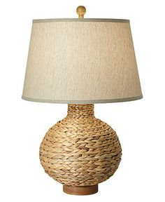 Pacific Coast Table Lamp, Seagrass Bay Round - Table Lamps - for the home - Macy's