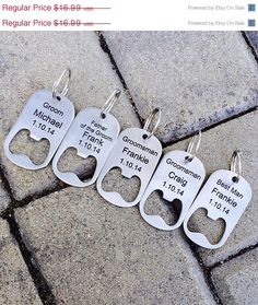 10% OFF SALE Personalized Bottle Opener Key Chain -Laser Engraved Groomsmen Gift, Wedding, Beer Lover, Custom Key Chain on Etsy, $15.29