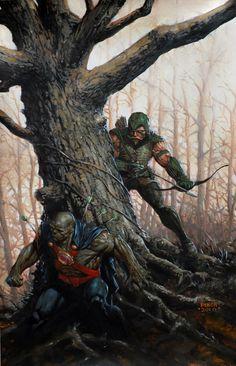 Green Arrow chasing