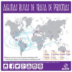 Rutas internacionales de la trata de personas. ¿Sabes el origen y el destino de las víctimas de trata de personas?
