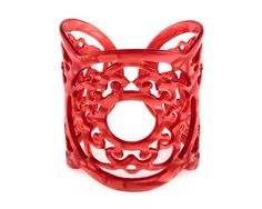 Stunning red cuff bracelet http://www.johannasimonds.com/collections/bracelets-cuffs/products/triple-ring-cuff-tomato-by-bellissima