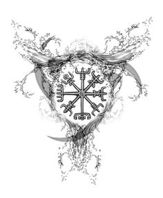 Who are the Vikings? Why is a Viking tattoo so popular nowadays and what is its meaning? Discover the secrets of Norse mythology here! Viking Compass Tattoo, Viking Tattoo Symbol, Pagan Tattoo, Compass Tattoo Design, Norse Tattoo, Symbol Tattoos, Viking Tattoo Design, Armor Tattoo, Wiccan Tattoos