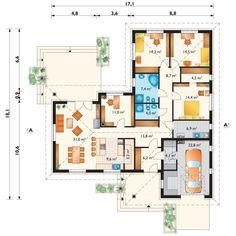 Casa ideal 3  dormitorios y estudio. Dream House Plans, House Floor Plans, Drop Zone, Fantasy House, Small House Design, Mudroom, Planer, Tiny House, New Homes