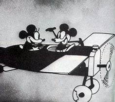 """2/10 Minnie and Mickey both debuted in """"Plane Crazy"""" in 1928. Mickey took Minnie for a romantic airplane ride. The whole time Minnie tries to avoid Mickey's kiss attempts! She even parachutes from the plane to avoid him!"""