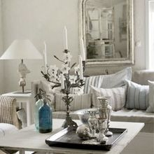 One of my favorite sources of design inspiration. French country paired with a Norwegian sensibility. So chic! Check out the mercury glass and the candle stick at the shop if you like this style.