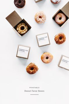 printable donut favor boxes | almost makes perfect