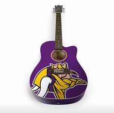 aae55e624c4cf4 Minnesota Vikings, Custom Guitars, Bass, Acoustic Guitar, Guitar Design,  Music Instruments