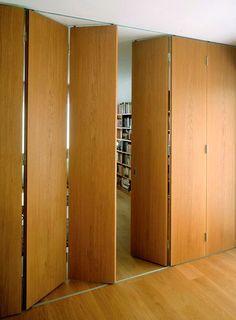 Apartment studio divider sliding doors 58 ideas for 2019 Studio Apartments, Cool Apartments, Home Design, Small Space Interior Design, Design Ideas, Sliding Screen Doors, Sliding Door Design, Wall Partition Design, Partition Ideas