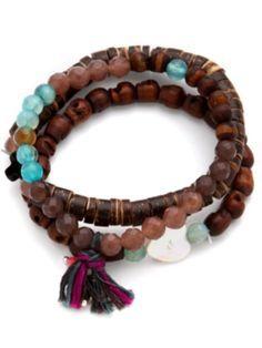 *♥* boho wood bracelet
