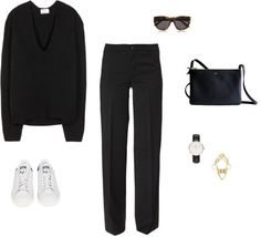 15/02/2015 | COLLECTION knit: ACNE | sneakers: ADIDAS 'mi Stan Smith' | watch: D. Wellington | cuff: MOXHAM 'otto' | bag: CELINE 'trio' | glasses: LE SPECS HERMOSA 'D-frame After years in tight skinny pants, wide legs are back again with KABOOM! Not only boyfriend and loose fitting, mid-waist mum jeans – but also elegant, wide leg men-suit pants. But if you think to see me ina boring office look – you're totally wrong. Paired with sneakers, an oversize knit and some accessories – I...