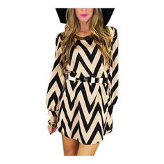 Yoins Zigzag Print Autumn Mini Shift Dress ($14) ❤ liked on Polyvore featuring dresses, shift dresses, mini shift dress, zig zag dress, zigzag dress and mini dress