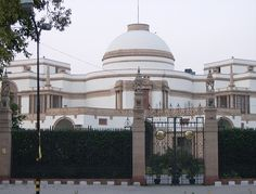 E. L. Lutyens - the Nizam (Fath Jang Nawwab Mir Osman Ali Khan Asif Jah VII, a muslim ruling a hindu state) of Hyderabad had this Palace built in Delhi when the Capital was moved there from Calcutta. He was absolute ruler of a huge realm in southern India and reputed to be the richest man on Earth although a miser.[http://en.wikipedia.org/wiki/Image:Nizam.jpg] In 1947-48 his realm was forcibly incorporated into India.