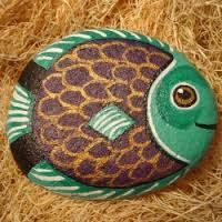Fish Painted Rock