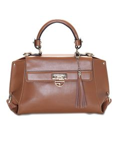 Take a look at the Segolene En Cuir Russet Charlotte Leather Satchel on #zulily today!