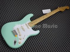 Fender classic #series 50s stratocaster - surf #green - #maple neck,  View more on the LINK: 	http://www.zeppy.io/product/gb/2/272518279733/