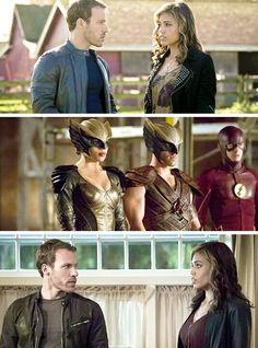 Kandra & Carter in the new Flash/Arrow crossover stills #Hawkgirl #Hawkman