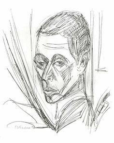 Self-portrait by @artistkirchner #expressionism