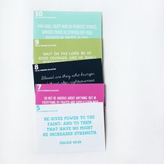 I love this idea of putting Gods promises on cards. The 50 Promises Memory Card Collection