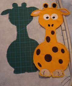 Süße Giraffe als Applikation. Ebenfalls als ITH erhältlich Größe: für den 10 x 18  18 x 30 und 10 x 10 Rahmen,