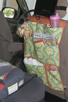 Books, Barbies, G.I. Joes, sippy cups…..all over my backseat. 3kids in the back = a lot of random stuff. This tutorial will teach you how to make this: Naked Barbie and crooked dvd player op…