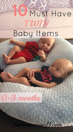 Ten Must Have Twin Baby Items! If you are expecting Twins check out this list of the Top Ten Must Haves for the first three months!