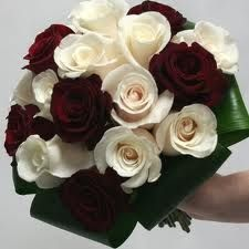 simple bridal bouquets red ivory - Google Search