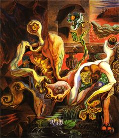 Andre Masson - The Metamorphosis of the Lovers, 1938
