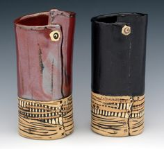 Elaine Pinkernell, studio potter creating fine art for the wall and funky functional ware all from that amazingly versatile medium, clay. Hand Built Pottery, Slab Pottery, Pottery Mugs, Pottery Bowls, Ceramic Pottery, Clay Mugs, Clay Vase, Ceramic Cups, Ceramic Art