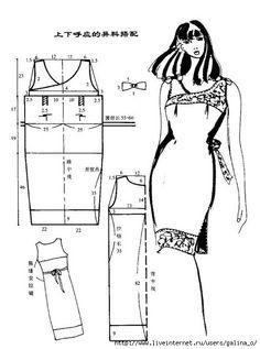 .Mod@ en Linea. Wraparound dress pattern - in Russian