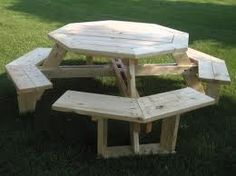 Picnic Table Plan on Pinterest | Picnic Table Plans, Picnic Tables and ...