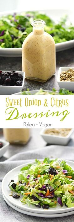 This Sweet Onion and Citrus Dressing tastes exactly how it sounds. Tangy undertones from the onions and lemon, with sweetness from the honey salad salad salad recipes grillen rezepte zum grillen Sauce Recipes, Paleo Recipes, Cooking Recipes, Cooking Tips, Avocado Recipes, Locarb Recipes, Cheap Recipes, Honey Recipes, Fast Recipes