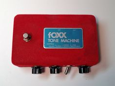 Vintage 70s Foxx Tone Machine Fuzz Red Felt Original and Awesome