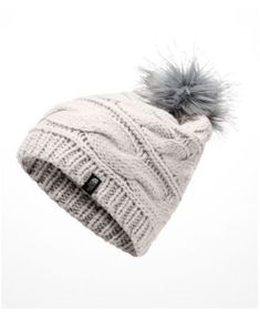 f129bcdb923 The North Face Triple Cable Pom Pom Hat   Reviews - Women s Brands - Women  - Macy s