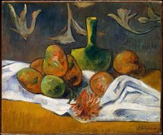 Fine Art Print-Still Life. Creator: Style of Paul Gauguin (French, late Fine Art Print on Paper made in the UK Paul Gauguin, Henri Matisse, Cezanne Still Life, Still Life Artists, Oil On Canvas, Canvas Prints, European Paintings, Contemporary Paintings, Classic Image