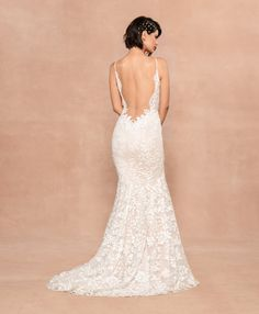 Style 12001 Havana Blush by Hayley Paige bridal gown - Frosted Lily embroidered fit to flare gown, plunging sweetheart neckline with illusion net insert, low open back with nude net yoke, ivory floral sequined detail over cashmere lining. Hayley Paige Bridal, Blush By Hayley Paige, Bella Bridal, Wedding Dresses For Sale, Wedding Dress Sizes, Wedding Gowns, Bridal Gown, Blush Colored Wedding Dress, Wedding Bells