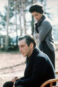 Talia Shire & Al Pacino (The Godfather II / Francis Ford Coppola / Photo Paramount Pictures. The Godfather Part Iii, Godfather Movie, Godfather Series, Talia Shire, Corleone Family, Don Corleone, Al Pacino, I Movie, Movie Stars