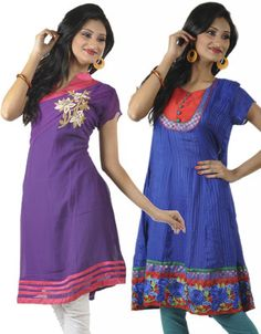 Aparnaa Casual, Festive, Formal Half Sleeve Self Design Women's Kurti - Buy Purple, Blue Aparnaa Casual, Festive, Formal Half Sleeve Self Design Women's Kurti Online at Best Prices in India | Flipkart.com  Rs. 5,999 50% OFF Selling Price EMI starts from Rs. 536 ? (Free delivery)