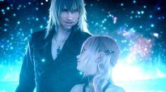 """""""Make my wish come true."""" Snow and Serah together again."""